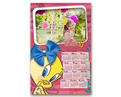 Calendari Looney Tunes - Calendario fotografico 30x45 Tweety
