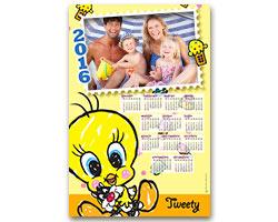 Calendari Looney Tunes - Calendario fotografico 30x45 Tweety e Silvestro