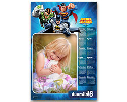 Calendari Looney Tunes - Calendario fotografico 30x45 Justice League 2