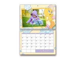Calendari Multipagina Looney Tunes - Calendario giorni personalizzabili Tweety