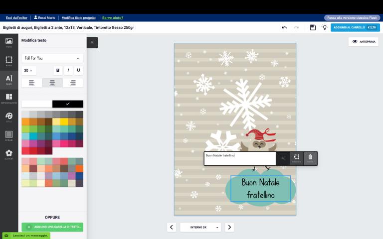 aggiungi una casella di testo al tuo biglietto di Natale con foto personalizzato