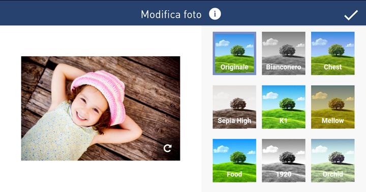 Fotolibri personalizzati - Filtri