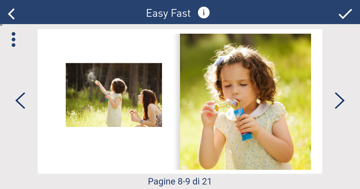 Stampa foto album da app - Ridimensiona le foto