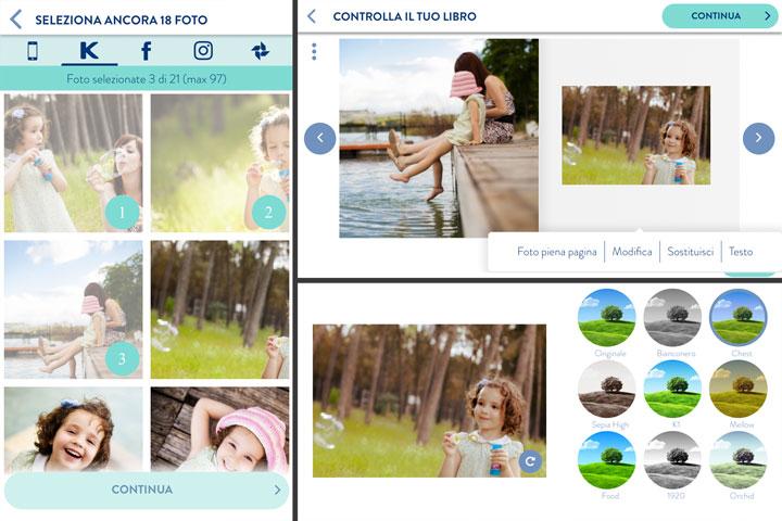 realizzare fotolibro da app