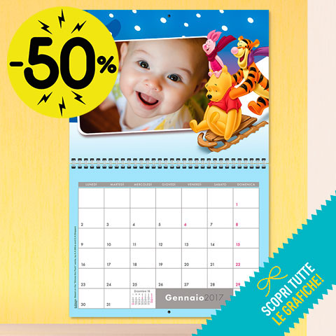 Calendario Multipagina - 38x60 cm (Happy Days Big)