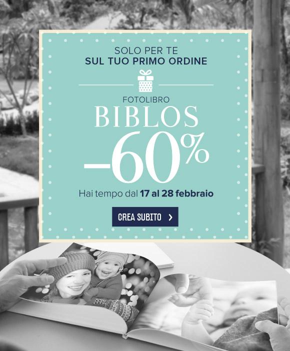 SCONTO 60% su FOTOLIBRO BIBLOS FINO AL 28 FEBBRAIO
