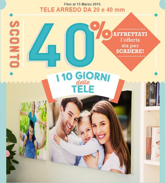 I GIORNI DELLE TELE SCONTO -40%