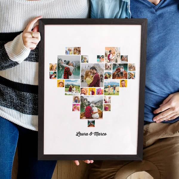 Stampa Poster Collage Cuore Poster 30x40 con astine o cornici ciaoalt