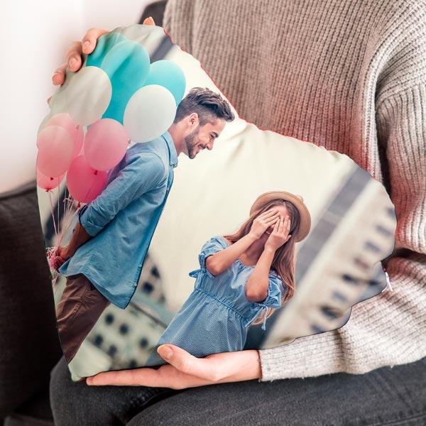 Cuscino Cuore Cuscino cuore personalizzato con foto 40x40