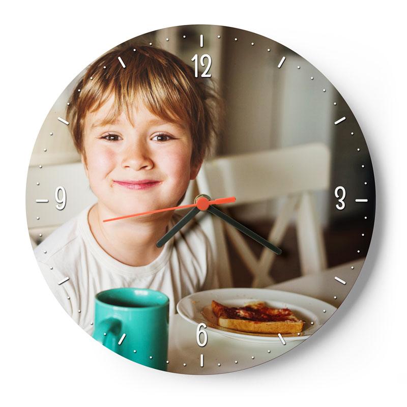 Orologio da Muro Cerchio Orologio personalizzato con stampa Chromaluxe