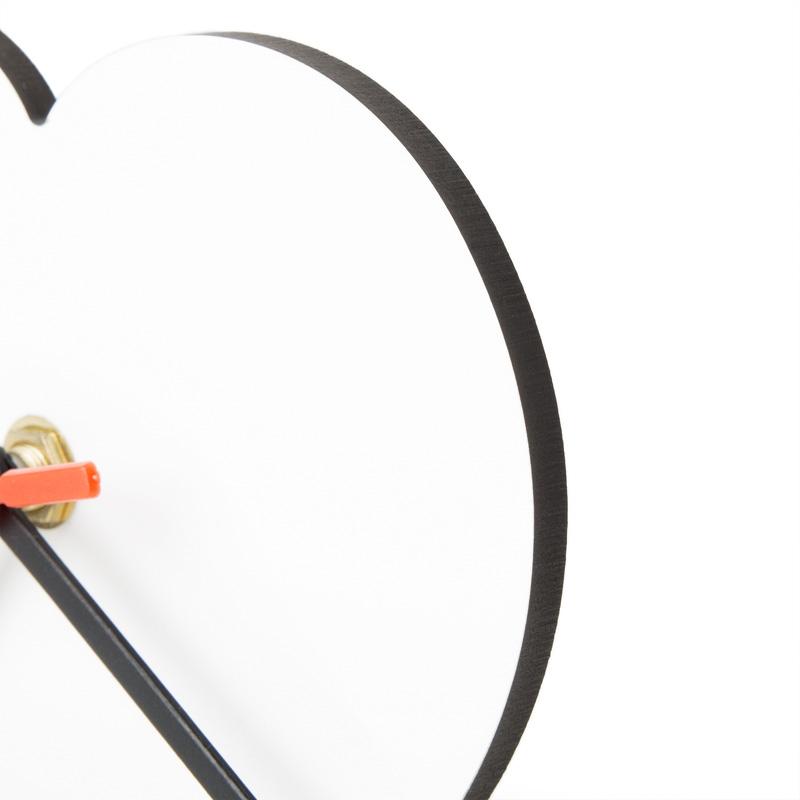 Orologio da Tavolo Cuore Orologio con stampa Chromaluxe personalizzato