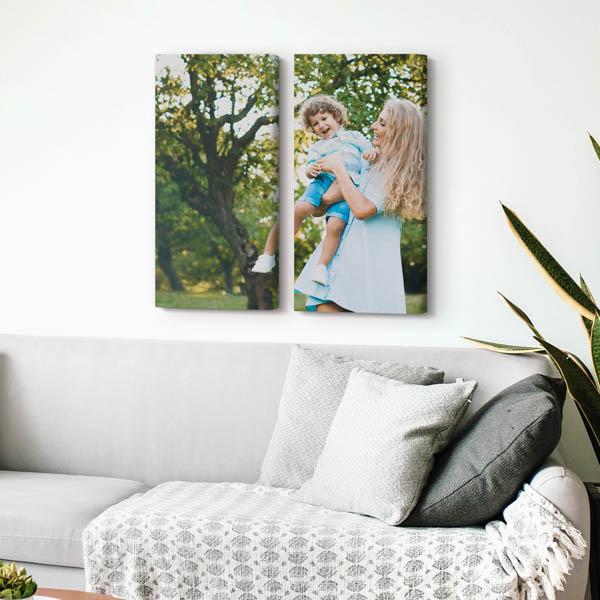 Foto su Tela SPLIT 1 2 tele 30 x 60 cm