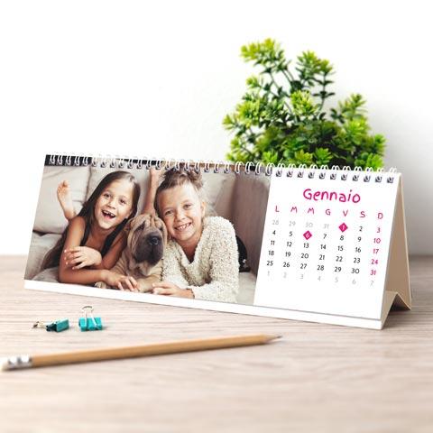Foto Calendario da Tavolo orizzontale Da tavolo orizzontale
