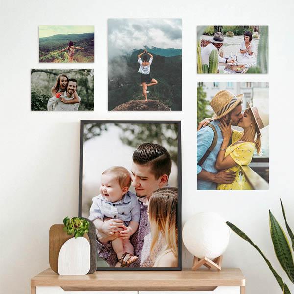 Ingrandimenti foto 20x30, 30x45, 50x75 con astine o cornici