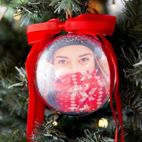 Palla di Natale 10 cm di diametro