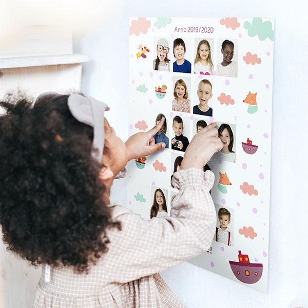 Poster Collage di Classe Poster 30x40 con astine o cornici